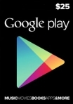 Google Play Gift Card 25 USD USA-регион