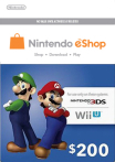 Nintendo eShop Card 200 USD