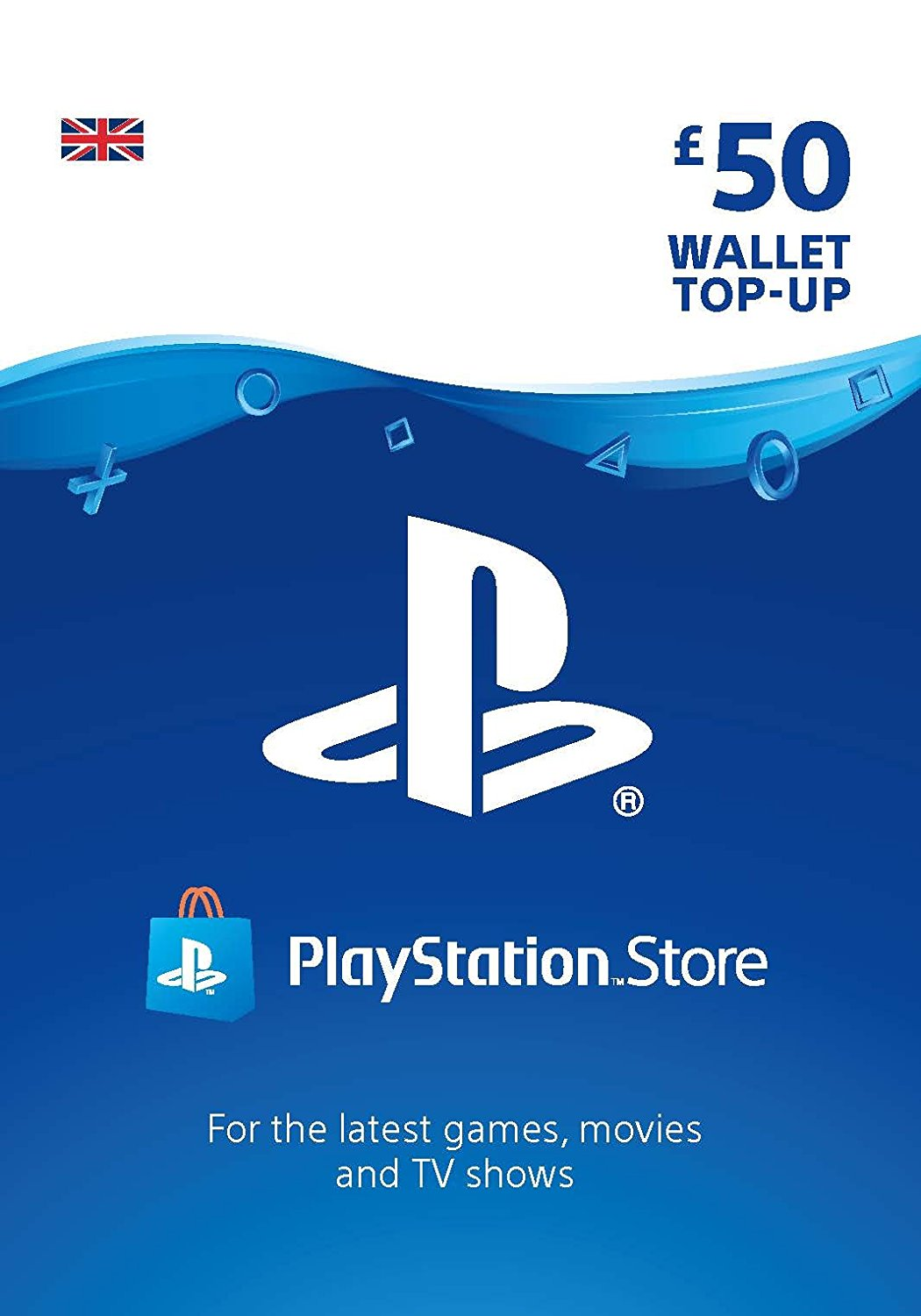 Playstation Network Gift Card 50 GBP UK-регион